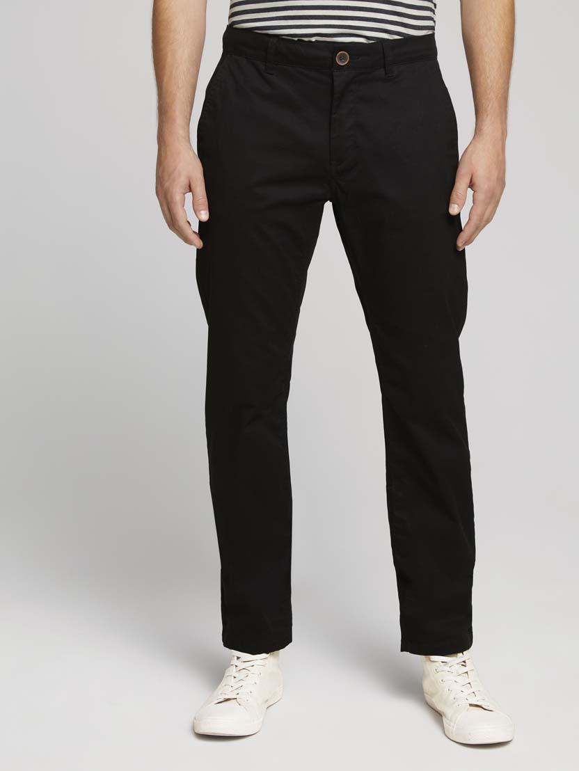 Klasične chino hlače Travis - Crna