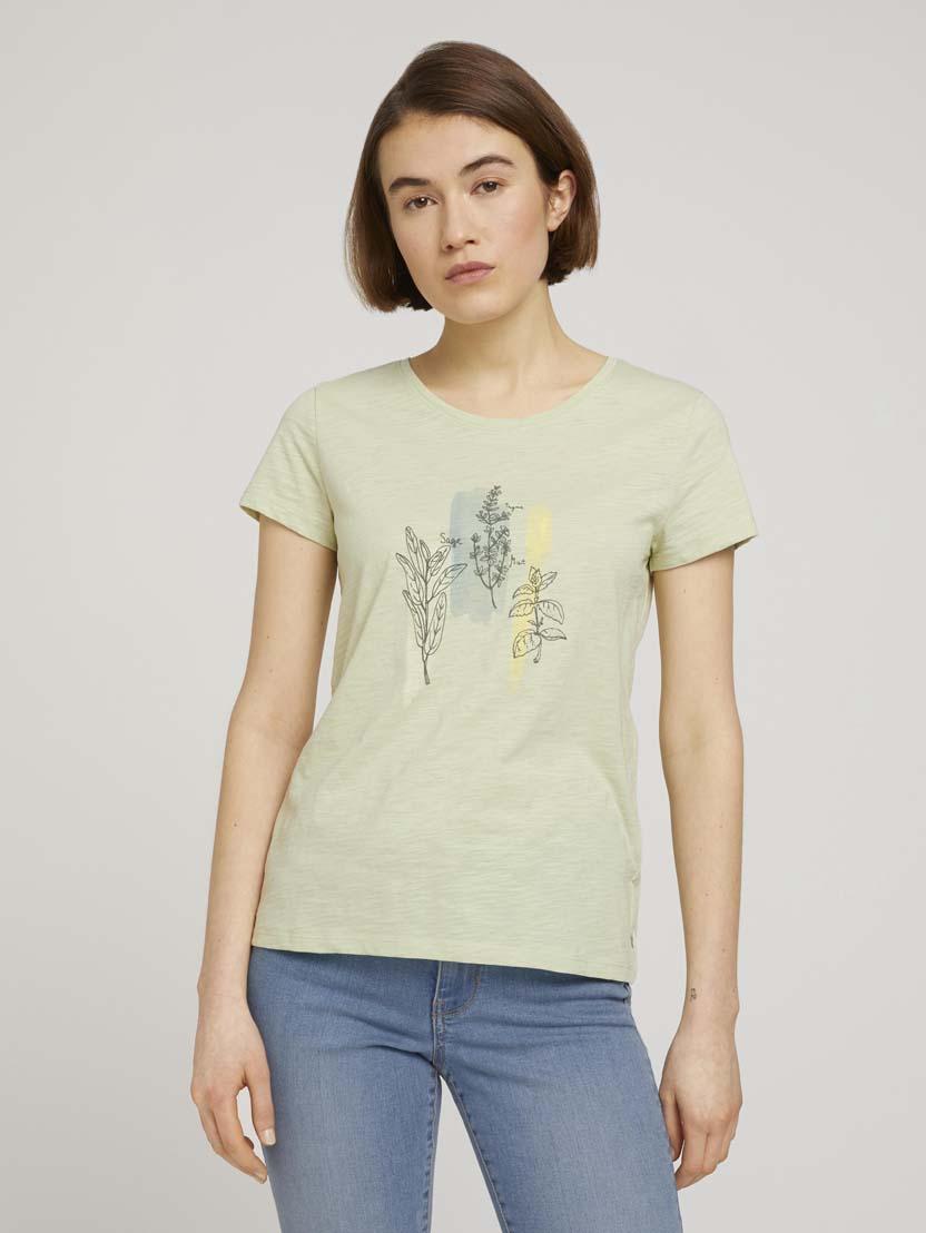 Majica s kratkimi rokavi in tiskom - Zelena_6493413