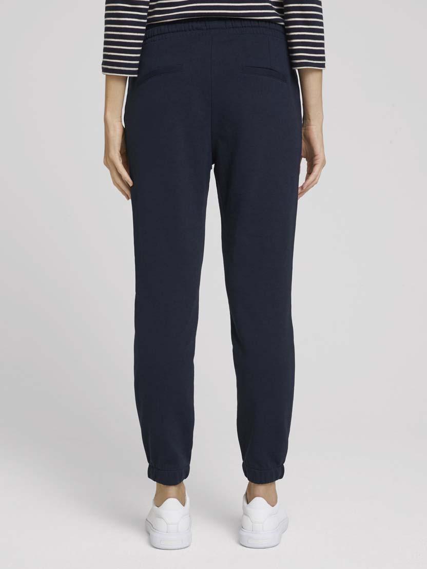 Ohlapne klasične hlače z elastičnim pasom - Modra_1864513