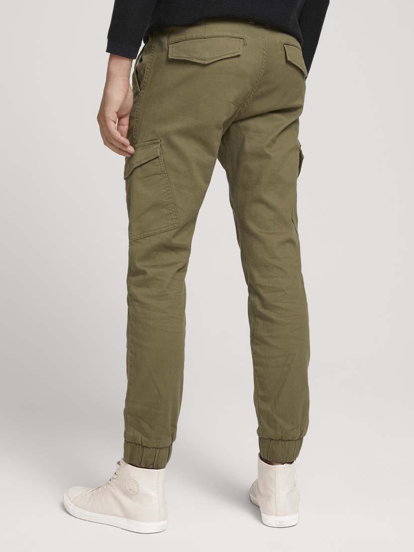 Ozke teksturirane cargo hlače - Zelena_2606340