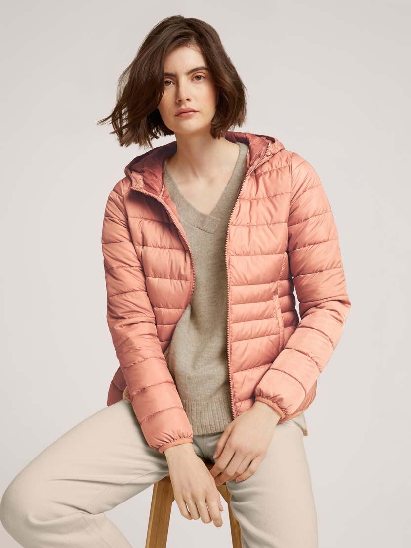 Prešita lahka jakna s kapuco - Roza_4400877
