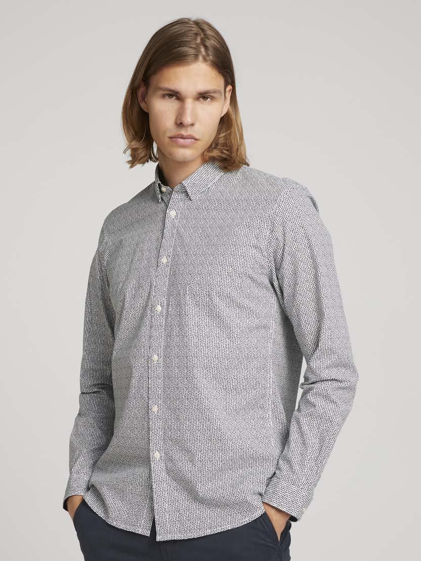 Raztegljiva srajca z dolgimi rokavi in potiskom - Vzorec/večbarvna