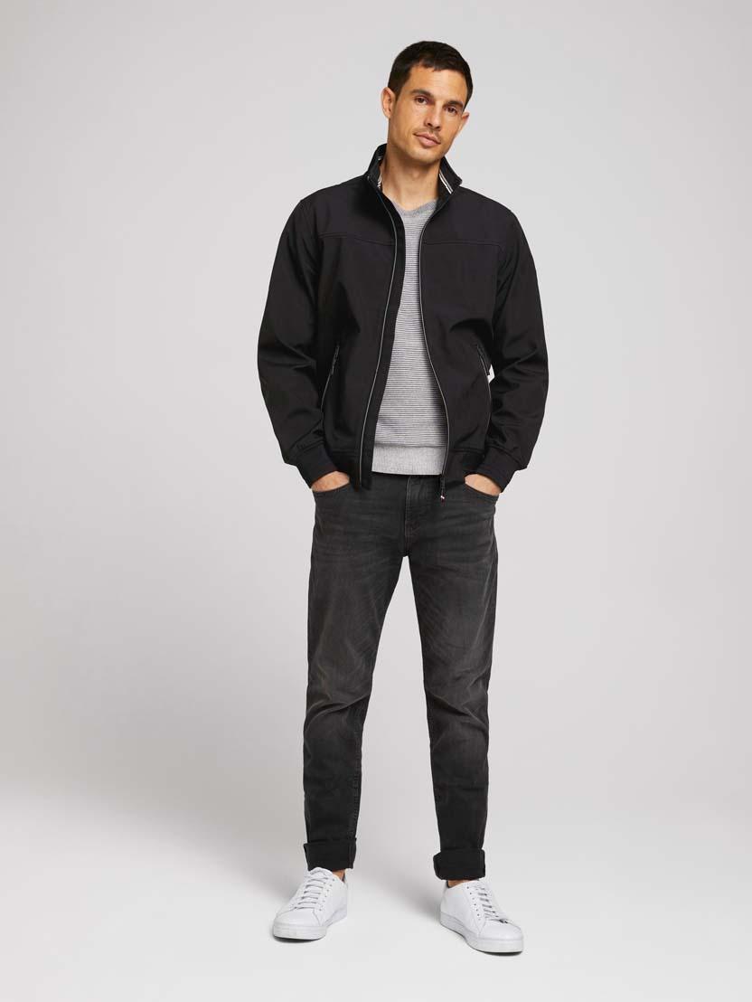Softshell jakna s stoječim ovratnikom - Črna_5162965