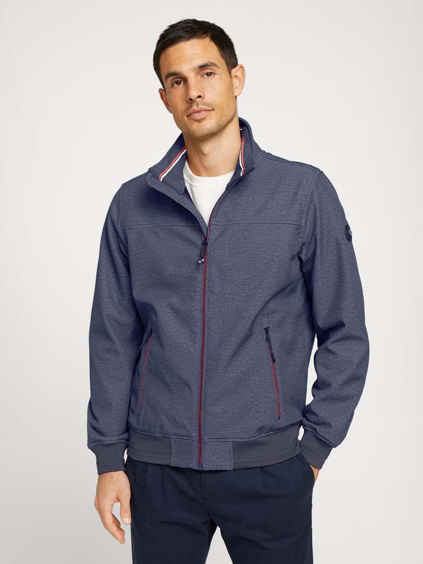 Softshell jakna s stoječim ovratnikom