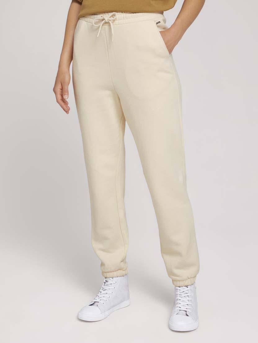 Športne hlače iz organskega bombaža z vrvico - Bež_4524061