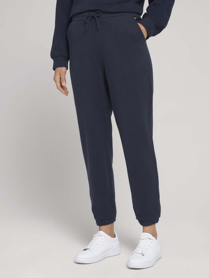 Športne hlače iz organskega bombaža z vrvico - Modra