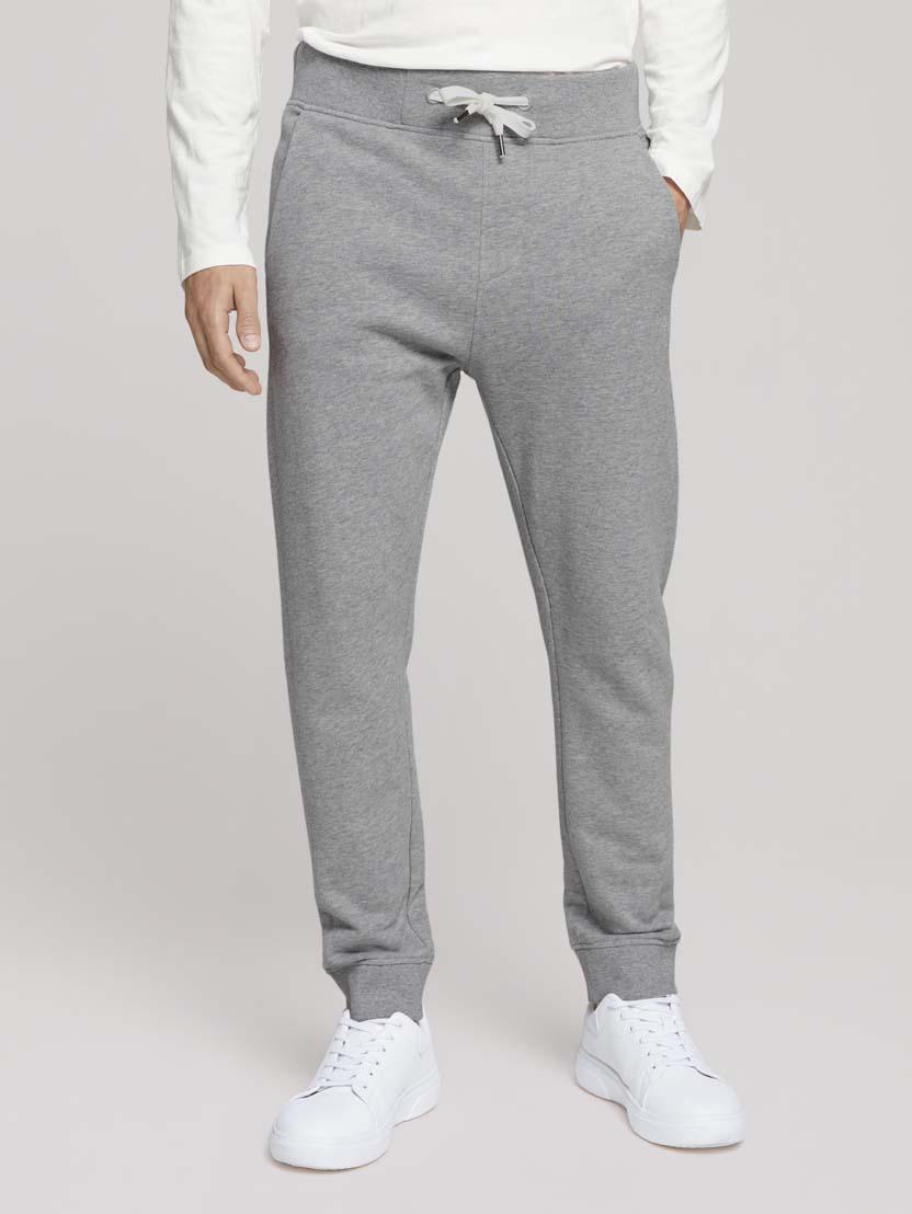 Športne hlače s potiskom znamke - Siva_1087494