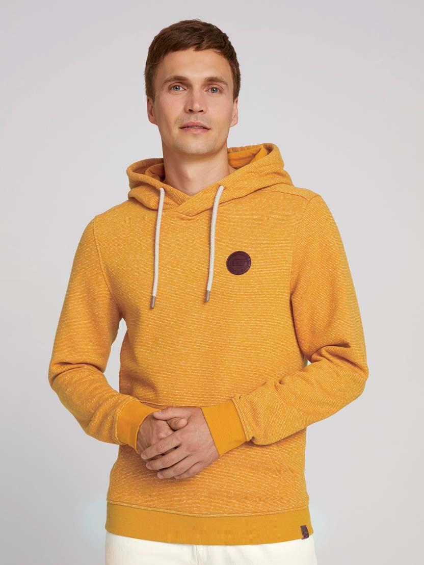 Športni pulover s kapuco z dolgimi rokavi z logotipom