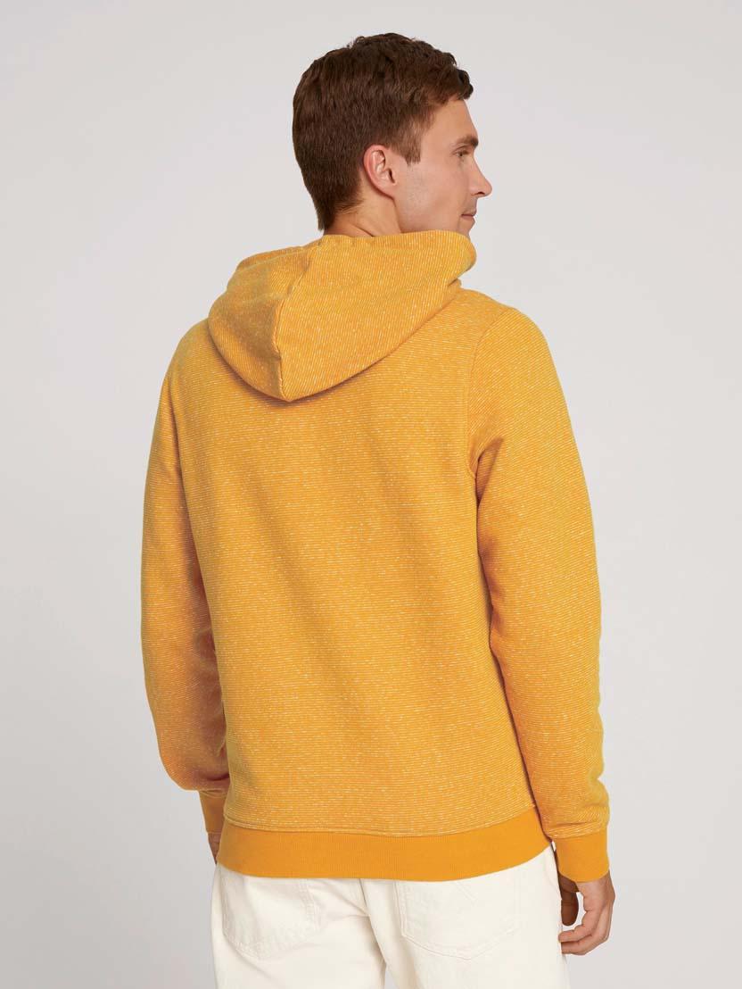 Športni pulover s kapuco z dolgimi rokavi z logotipom - Rjava_3539079