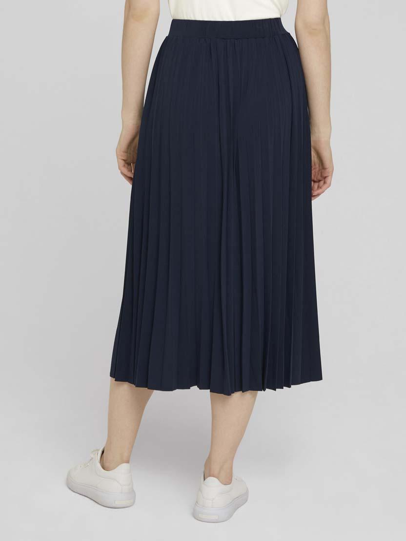 Plisirana suknja midi dužine - Plava_3495130