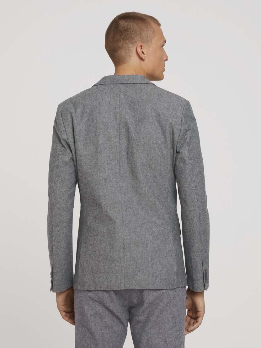 Teksturiran Herringbone suknjič z žepi - Siva_9609314
